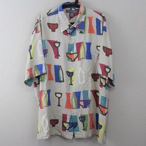 Tori Richard Hawaiian Silk Button Up Shirt L91